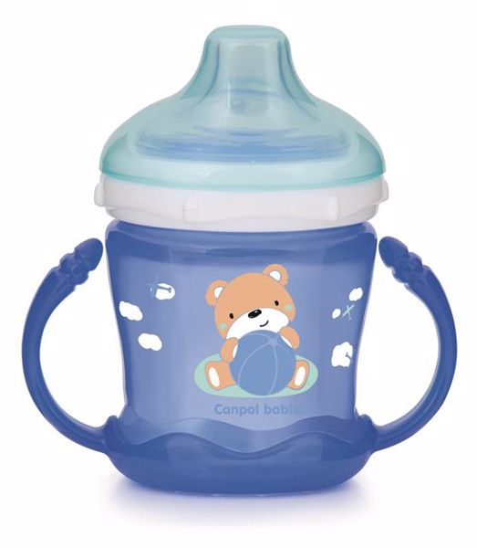 Canpol babies on-spill Cup - Sweet fun 180 ml Blue itatópohár - Brendon - 113235