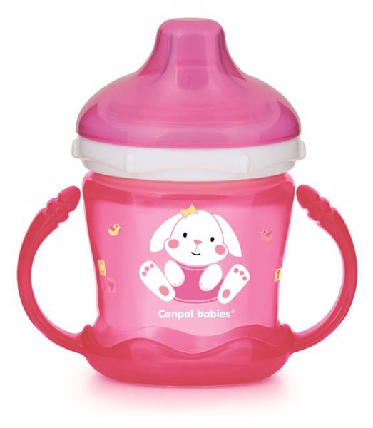 Canpol babies on-spill Cup - Sweet fun 180 ml Pink itatópohár - Brendon - 113236