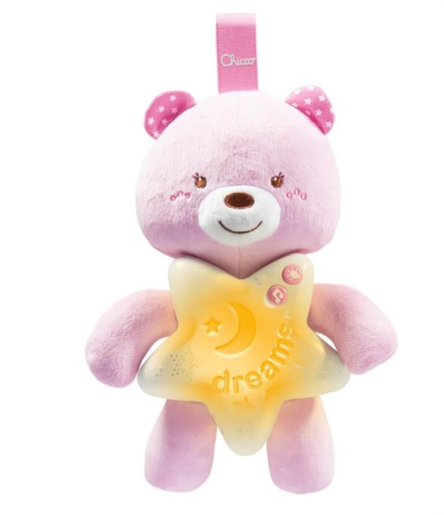 Chicco Goodnight Bear  pink hračka na uspávanie - Brendon - 113867
