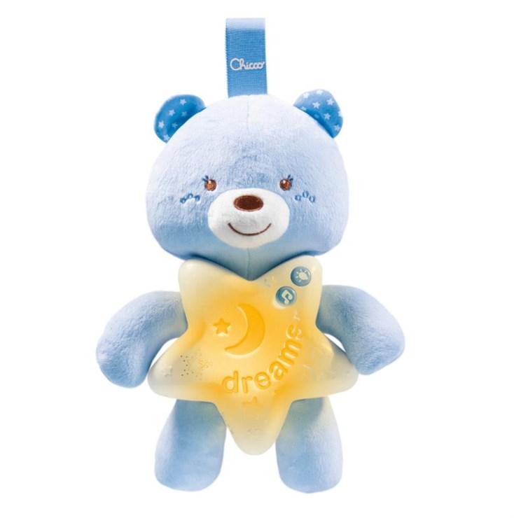 Chicco Goodnight Bear  blue hračka na uspávanie - Brendon - 114221