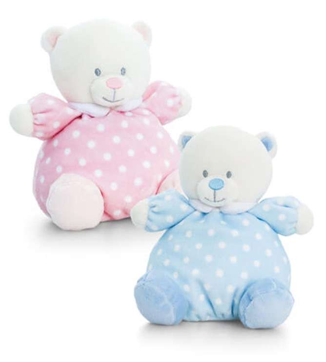 Baby Keel Baby Puffball Bear 16cm Mixed colors plüss - Brendon - 115277