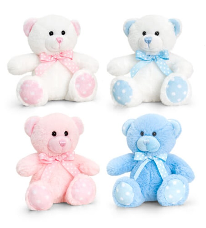 Baby Keel Baby Spotty Bear 15cm Mixed colors plüss - Brendon - 115290