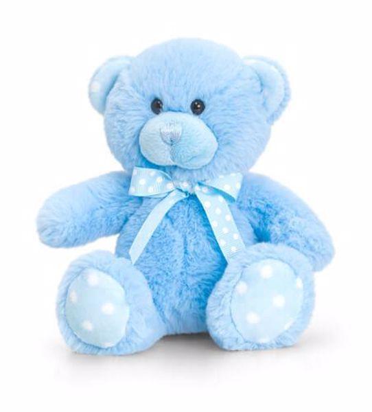 Baby Keel Baby Spotty Bear 25cm Blue plüss - Brendon - 115297