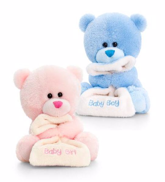 Baby Keel Nursery Pipp the Bear with Blanket 14cm Mixed colors plüss - Brendon - 115327