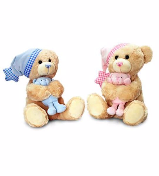 Baby Keel Cuddles Musical Bear with Teddy 25cm Mixed colors plüss - Brendon - 115344