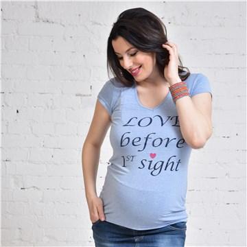 Brendon Maternity Bibiana V Blue Mel póló e42724fce7