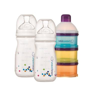 Bébé Confort Natural Comfort Baby Bottle Set Of 2 240 Ml + Milk  műanyag cumisüveg - Brendon - 115604