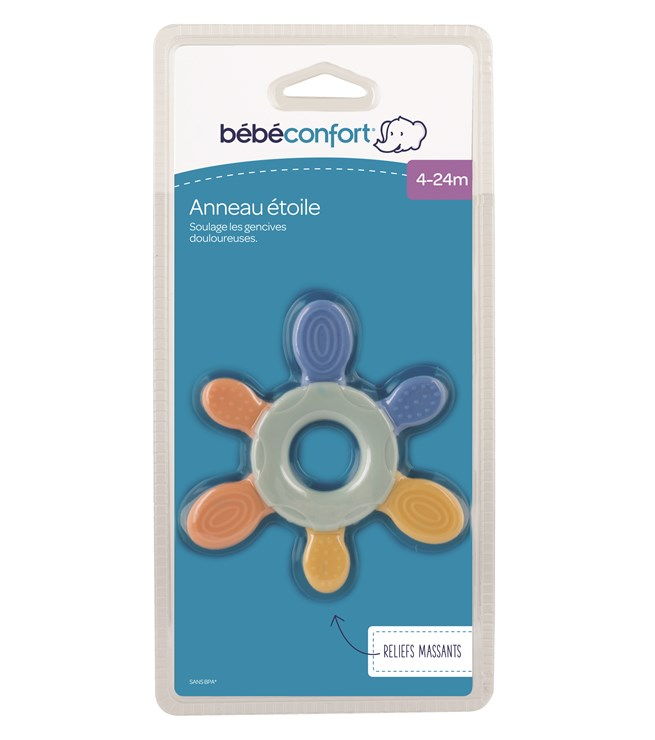 Bébé Confort Flower Teething Ring BI-Texture  rágóka - Brendon - 115629