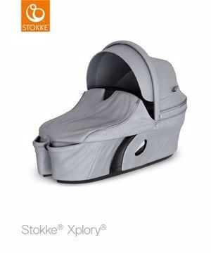 Stokke Xplory Carry Cot Grey Melange babakocsivázra rögzíthető mózeskosár cdfe3bb882