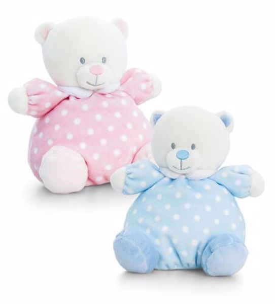 Baby Keel Baby Puffball Bear 20cm Mixed colors plyš - Brendon - 116280