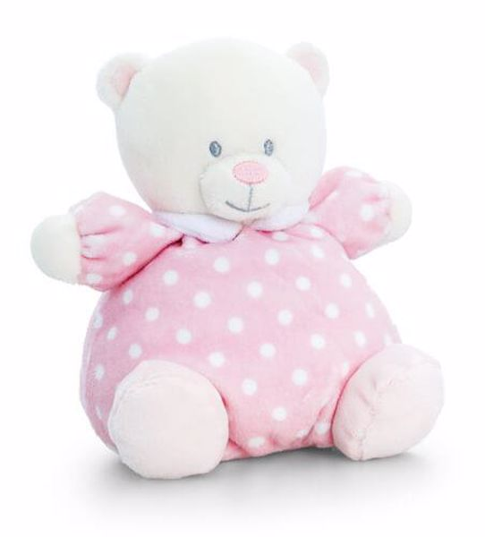 Baby Keel Baby Puffball Bear 20cm Mixed colors plyš - Brendon - 116282
