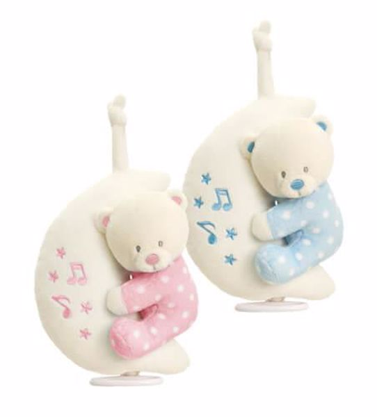 Baby Keel Baby Bear on Moon Musical Mixed colors plyš - Brendon - 116286