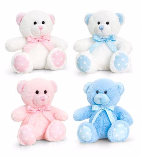 Baby Keel Baby Spotty Bear 15cm Mixed colors plyš - Brendon - 116290