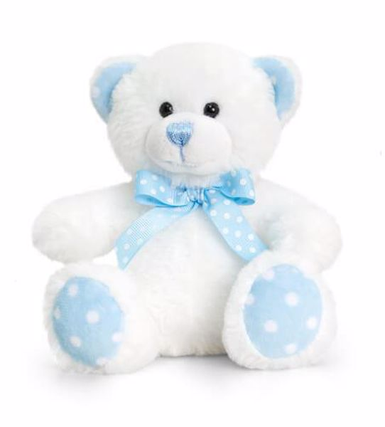 Baby Keel Baby Spotty Bear 15cm Mixed colors plyš - Brendon - 116291