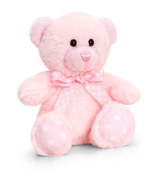 Baby Keel Baby Spotty Bear 15cm Mixed colors plyš - Brendon - 116294