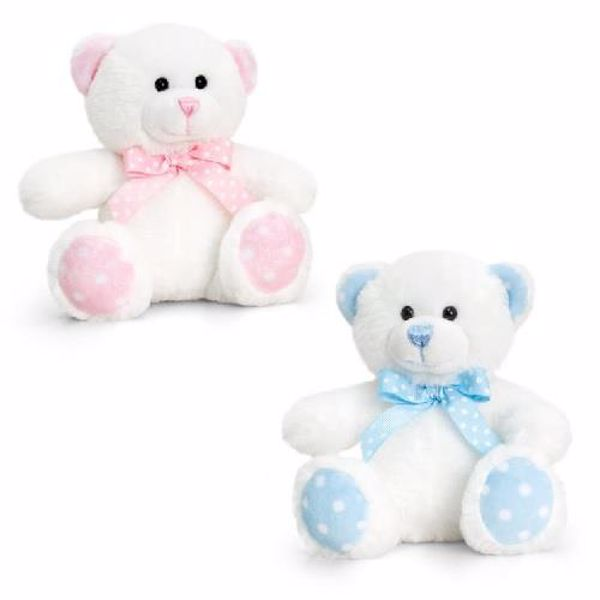 Baby Keel Baby Spotty Bear 25cm. Mixed colors plyš - Brendon - 116298