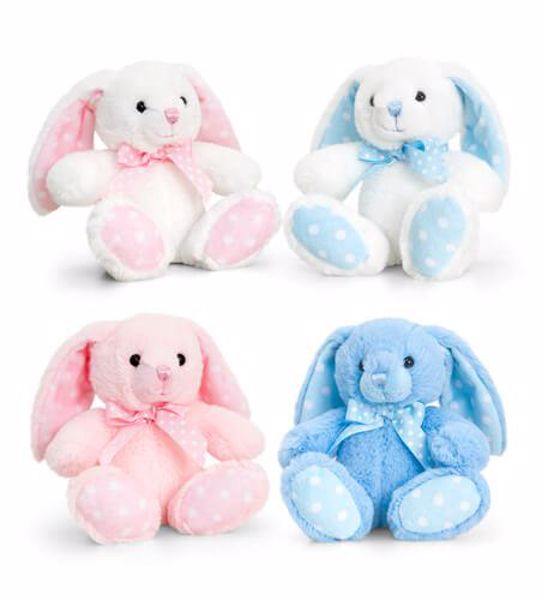 Baby Keel Baby Spotty Rabbit 15cm Mixed colors plyš - Brendon - 116306