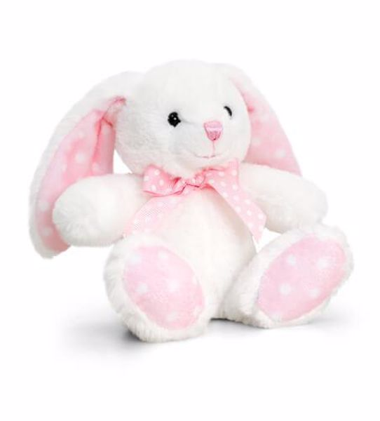 Baby Keel Baby Spotty Rabbit 15cm Mixed colors plyš - Brendon - 116308