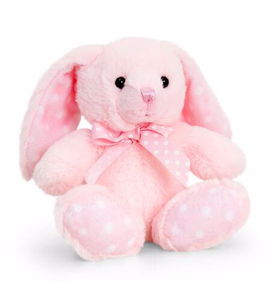 Baby Keel Baby Spotty Rabbit 15cm Mixed colors plyš - Brendon - 116310