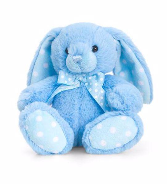 Baby Keel Baby Spotty Rabbit 25cm Blue plyš - Brendon - 116311