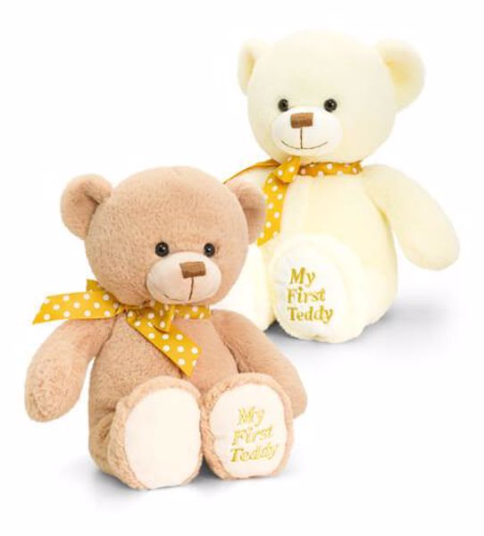 Baby Keel Supersoft My First Teddy 20cm Mixed colors plyš - Brendon - 116325
