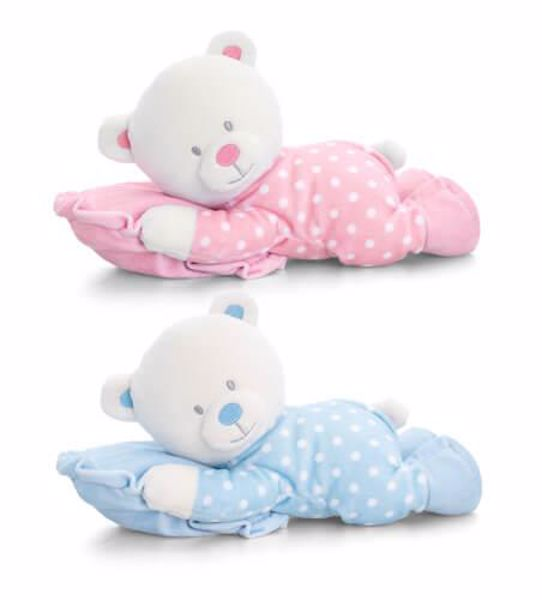 Baby Keel Baby Bear on Pillow 25cm Mixed colors plyš - Brendon - 116341