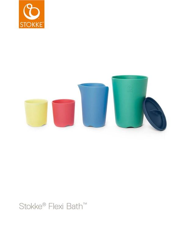 Stokke Flexi Bath Toy Cups Multi Colour hračka do vody - Brendon - 116377