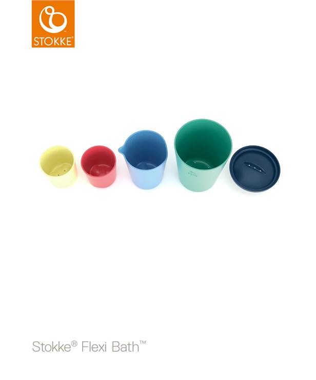 Stokke Flexi Bath Toy Cups Multi Colour hračka do vody - Brendon - 116378