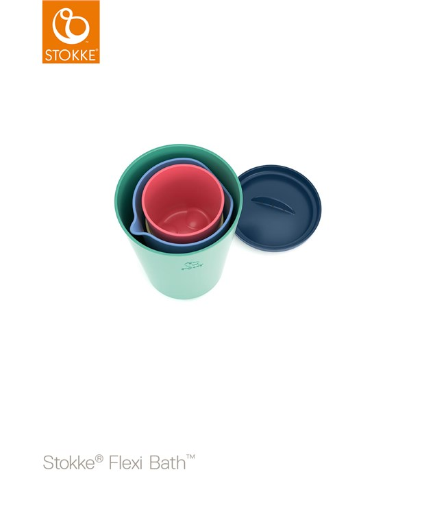 Stokke Flexi Bath Toy Cups Multi Colour hračka do vody - Brendon - 116379