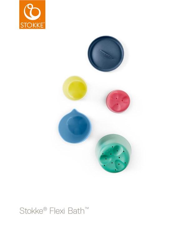 Stokke Flexi Bath Toy Cups Multi Colour hračka do vody - Brendon - 116380