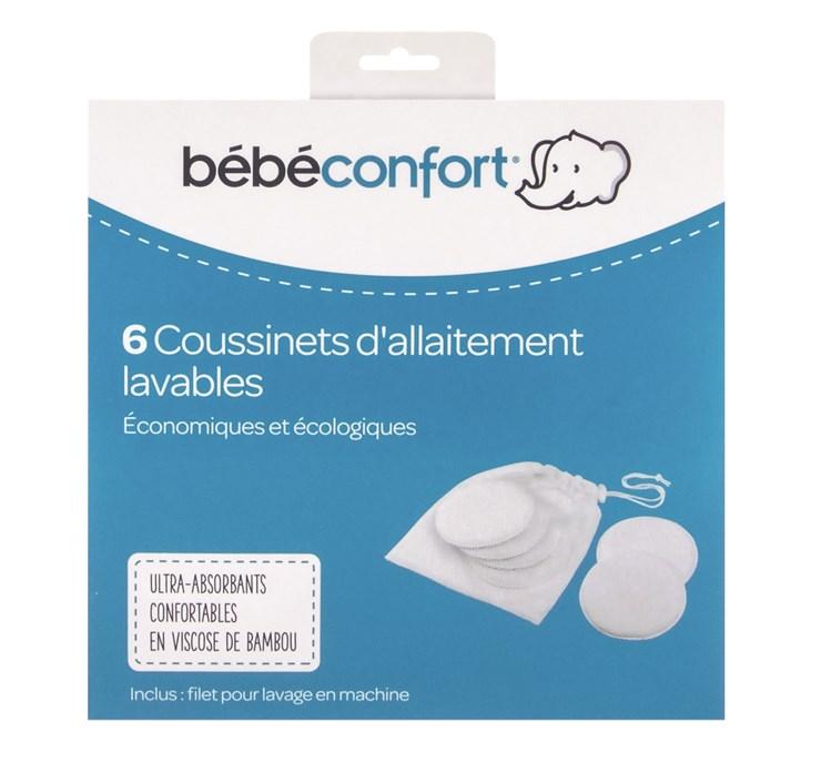 Bébé Confort 6 pcs Waschable Nursing Pads - Bamboo  prateľné vložky do podprsenky - Brendon - 116596
