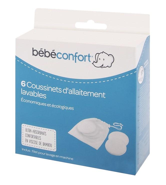 Bébé Confort 6 pcs Waschable Nursing Pads - Bamboo  prateľné vložky do podprsenky - Brendon - 116597