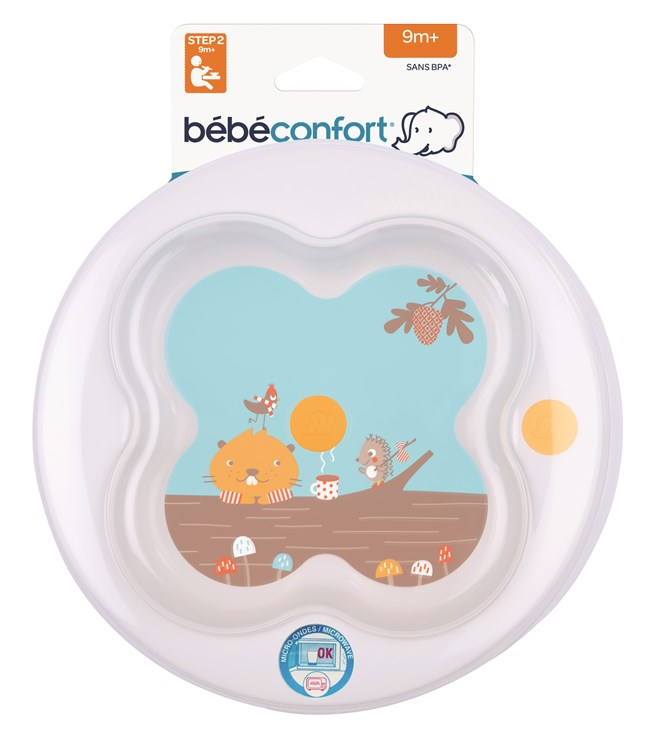Bébé Confort Learning Plate + Cover Woodcamp tanier - Brendon - 116677