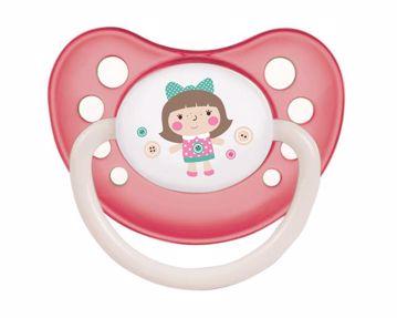 Canpol babies TOYS Orthodontic glows in the dark18m+ pink játszó- és altatócumi szilikon - Brendon - 118382