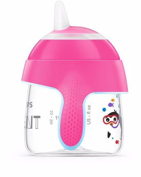 Philips AVENT Premium Magic with handle Penguin 200ml Pink itatópohár - Brendon - 119196