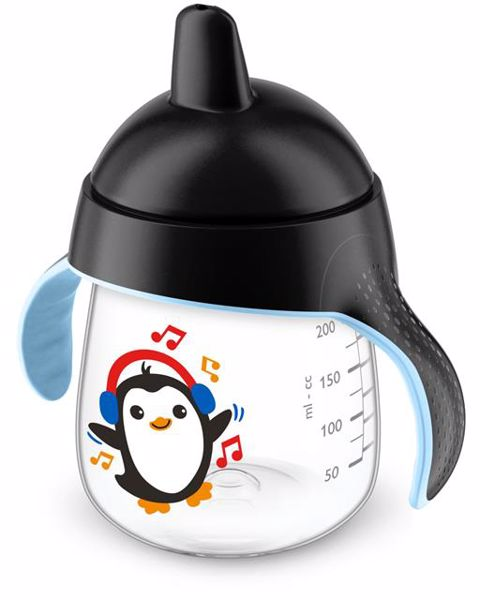 Philips AVENT Premium Magic with handle Penguin 260ml Black itatópohár - Brendon - 119207