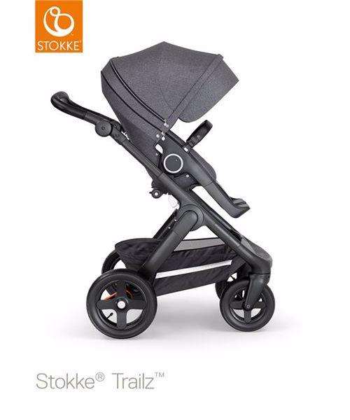 ... Stokke Trailz   seat Leatherette Terrain Wheels Black Melange-Black-Black  babakocsi - Brendon 1589693d4a
