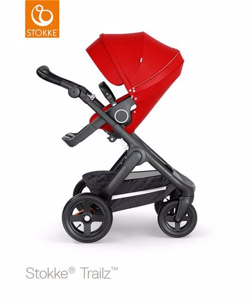 b086ef969 Stokke Trailz & seat Leatherette Terrain Wheels Red-Black-Black  multifunkciós babakocsi - Brendon ...