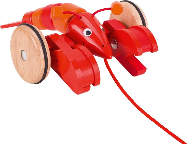Goki Pull along animal (Lobster)  húzó-toló játék - Brendon - 124530