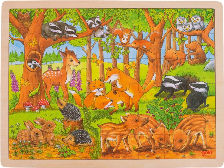 Goki Puzzle baby forest  puzzle - Brendon - 125542
