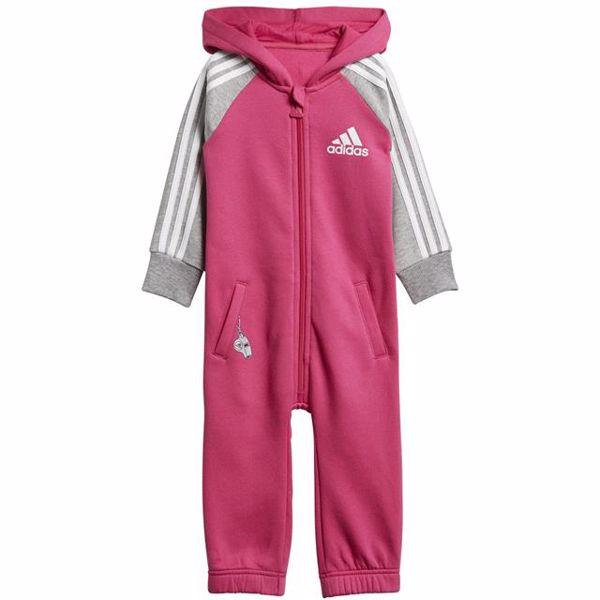 adidas DJ1554 Pink-Grey bavlnené dupačky s dlhým rukávom - Brendon - 128282