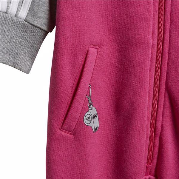 adidas DJ1554 Pink-Grey bavlnené dupačky s dlhým rukávom - Brendon - 128284