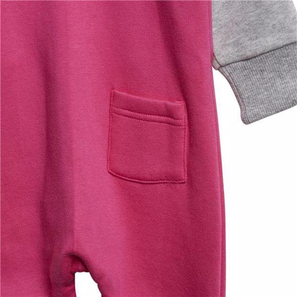 adidas DJ1554 Pink-Grey bavlnené dupačky s dlhým rukávom - Brendon - 128285