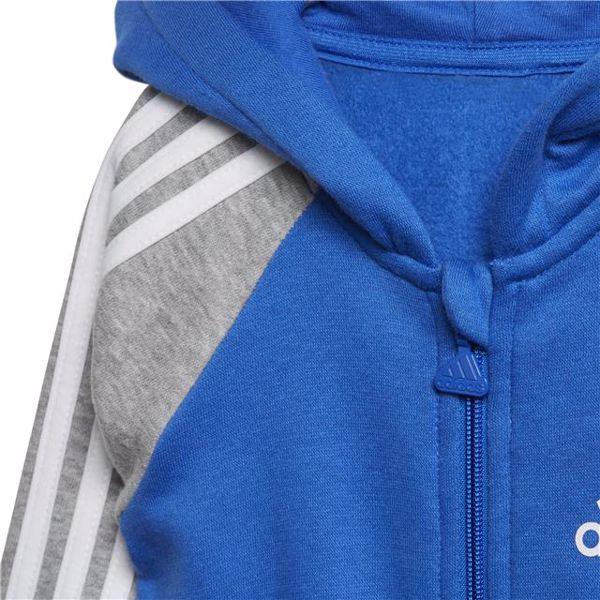 adidas DJ1561 Blue-Grey bavlnené dupačky s dlhým rukávom - Brendon - 128287