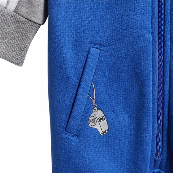 adidas DJ1561 Blue-Grey bavlnené dupačky s dlhým rukávom - Brendon - 128288