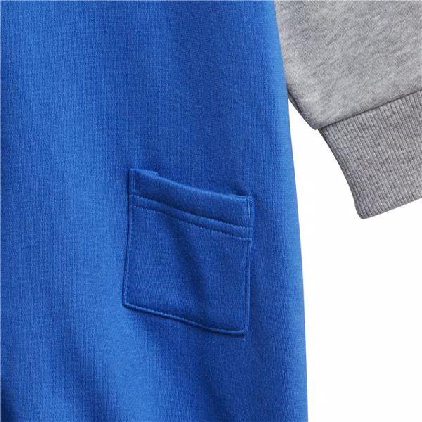 adidas DJ1561 Blue-Grey bavlnené dupačky s dlhým rukávom - Brendon - 128289