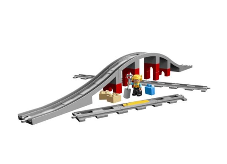 LEGO DUPLO Train Bridge and Tracks 10872  építőjáték - Brendon - 130992