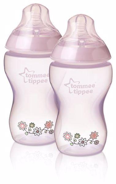 Tommee Tippee CTN Decorated bottle 2*340 ml Pink cumlíková fľaša plastová - Brendon - 132077