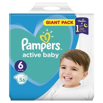 Pampers Active Baby Dry S6 1x124 Monthly Box Eldobhat 243