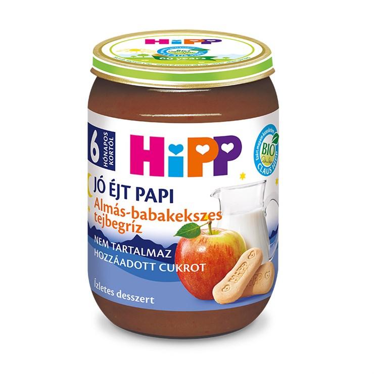 Hipp Jó éjt papi Almás-babakekszes tejbegríz 190g  babadesszert - Brendon - 136800